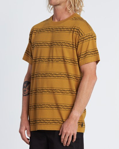 1 Tucker Stripe T-Shirt Yellow M404WBVR Billabong