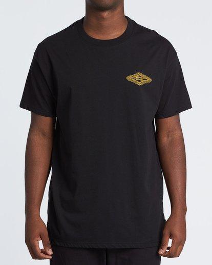 0 Creator Diamond Tee Short Sleeve T-Shirt Black M404WBXR Billabong
