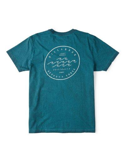 1 Wavy Davy Short Sleeve T-Shirt Green M404WBZE Billabong