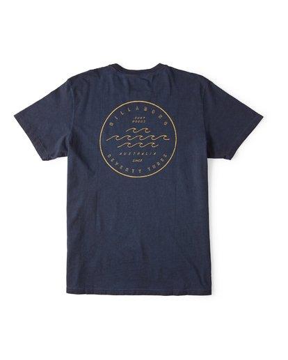 1 Wavy Davy Short Sleeve T-Shirt Blue M404WBZE Billabong