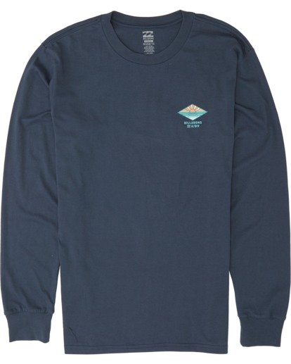 3 A Frame Long Sleeve T-Shirt Blue M4051BAF Billabong