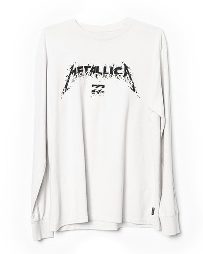 3 AI Metallica Long Sleeve T-Shirt White M4051BAM Billabong