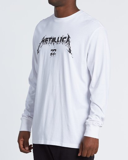 1 AI Metallica Long Sleeve T-Shirt White M4051BAM Billabong