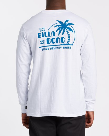 2 EC-Social Club  Long Sleeve T-Shirt White M4051BEL Billabong