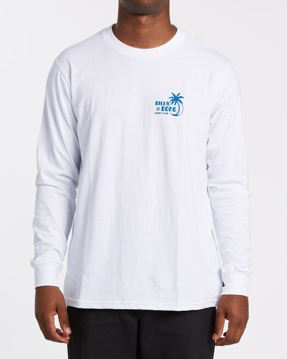0 EC-Social Club  Long Sleeve T-Shirt White M4051BEL Billabong