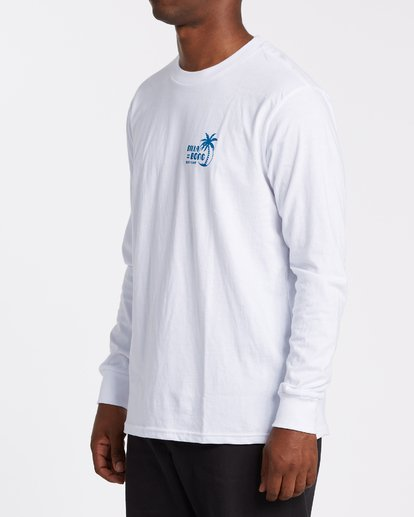 1 EC-Social Club  Long Sleeve T-Shirt White M4051BEL Billabong