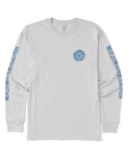 3 Hiero  Long Sleeve T-Shirt Grey M4051BHE Billabong