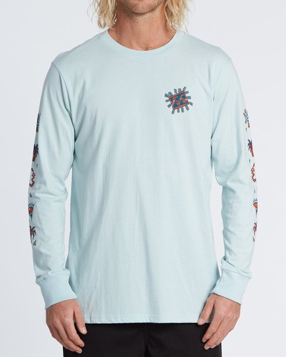 0 Hiero  Long Sleeve T-Shirt Brown M4051BHE Billabong