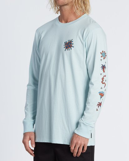 1 Hiero  Long Sleeve T-Shirt Brown M4051BHE Billabong