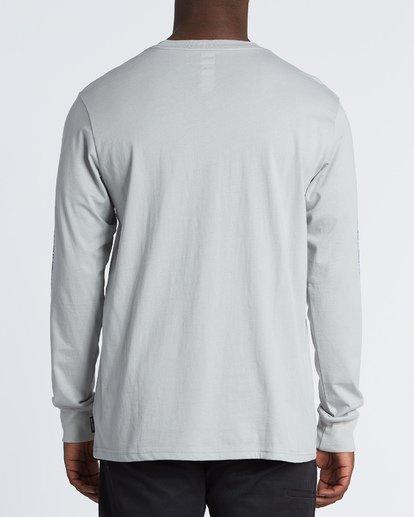 2 Hiero  Long Sleeve T-Shirt Grey M4051BHE Billabong