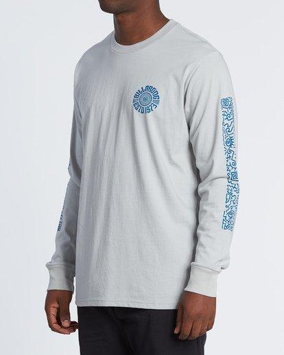 1 Hiero  Long Sleeve T-Shirt Grey M4051BHE Billabong