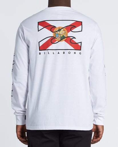 2 Native Florida Long Sleeve T-Shirt White M4051BNF Billabong