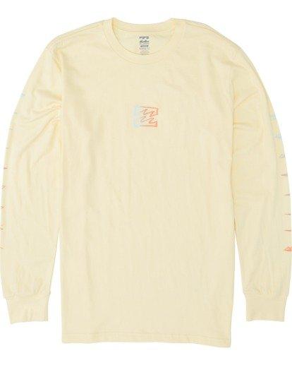 3 Oscura Long Sleeve T-Shirt Yellow M4051BOS Billabong