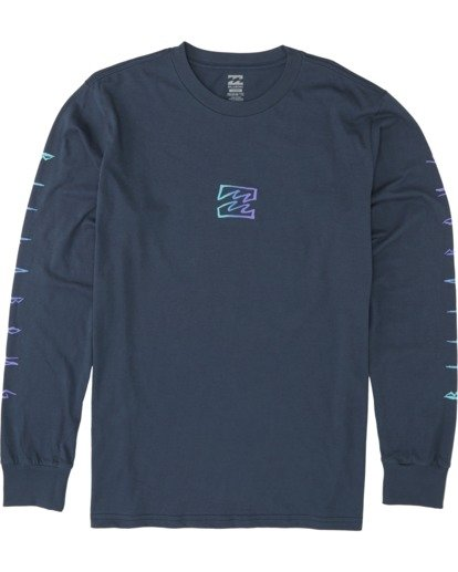 3 Oscura Long Sleeve T-Shirt Blue M4051BOS Billabong