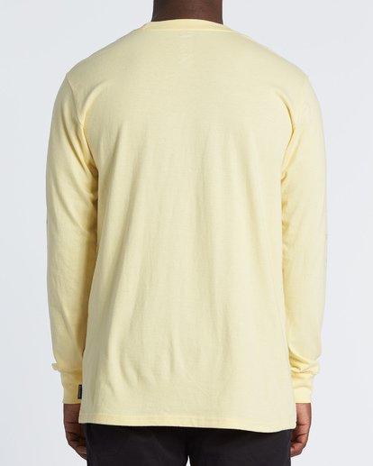 2 Oscura Long Sleeve T-Shirt Yellow M4051BOS Billabong