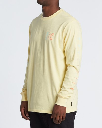 1 Oscura Long Sleeve T-Shirt Yellow M4051BOS Billabong
