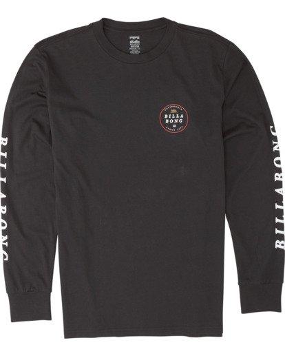 3 Rotor California Long Sleeve T-Shirt Black M4051BRC Billabong