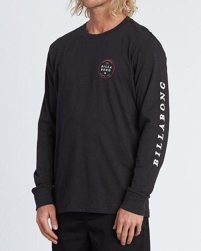 1 Rotor California Long Sleeve T-Shirt Black M4051BRC Billabong