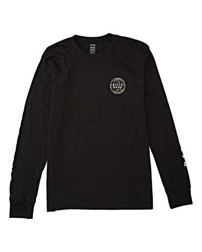 3 Rotor Hawaii Long Sleeve T-Shirt Black M4051BRH Billabong