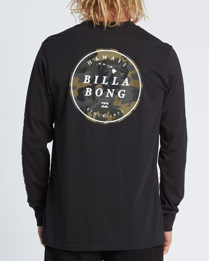 2 Rotor Hawaii Long Sleeve T-Shirt Black M4051BRH Billabong