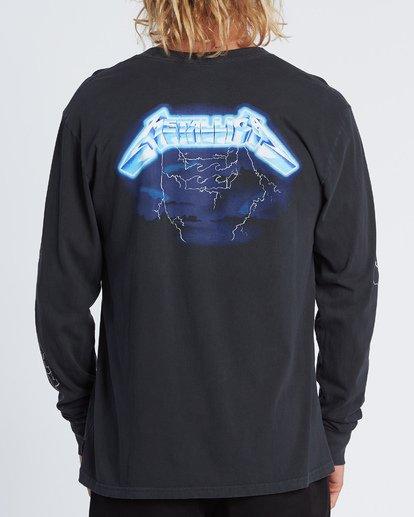 2 Ride The Lightning Long Sleeve T-Shirt Black M4051BRL Billabong