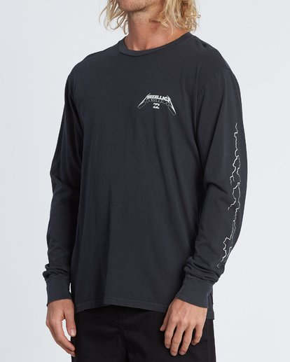 1 Ride The Lightning Long Sleeve T-Shirt Black M4051BRL Billabong