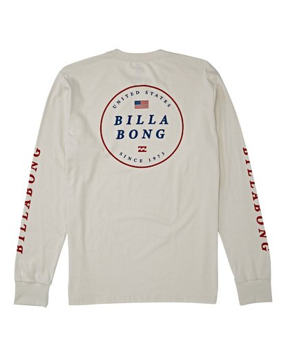 4 Rotor USA Long Sleeve T-Shirt Brown M4051BRU Billabong