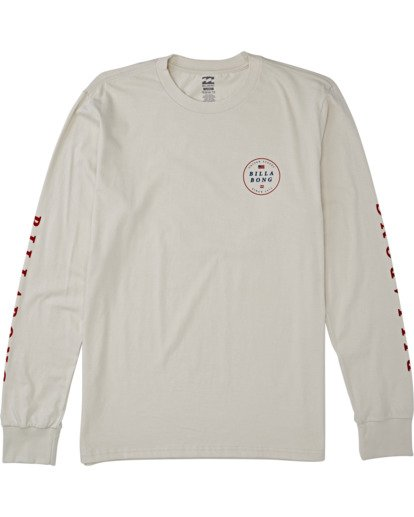 3 Rotor USA Long Sleeve T-Shirt Brown M4051BRU Billabong