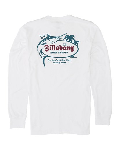 4 Surf Lounge Long Sleeve T-Shirt White M4051BSU Billabong