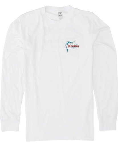 3 Surf Lounge Long Sleeve T-Shirt White M4051BSU Billabong