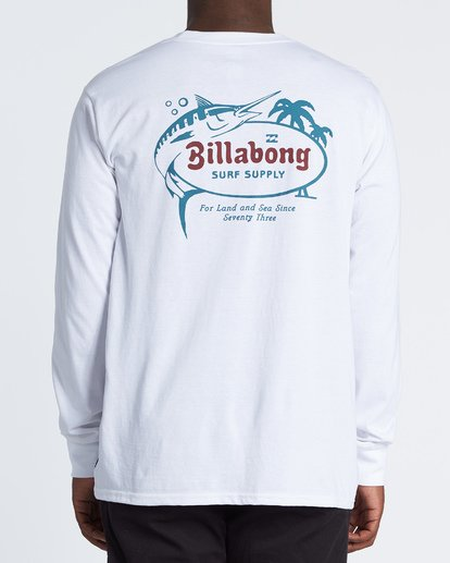 2 Surf Lounge Long Sleeve T-Shirt White M4051BSU Billabong