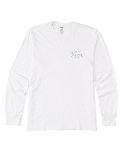 3 Trademark  Long Sleeve T-Shirt White M4051BTE Billabong