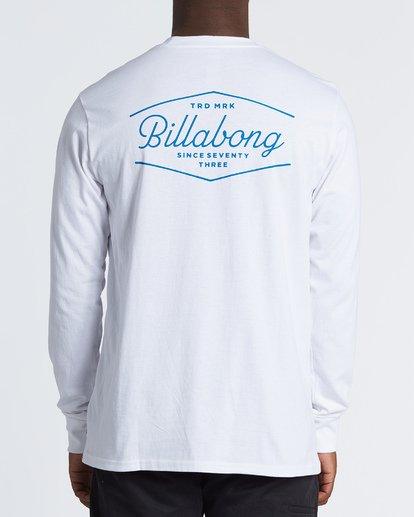 2 Trademark  Long Sleeve T-Shirt White M4051BTE Billabong