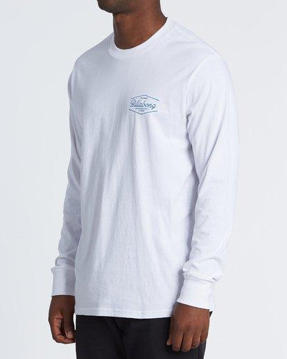 1 Trademark  Long Sleeve T-Shirt White M4051BTE Billabong