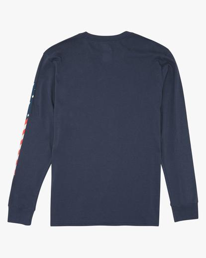 5 Americana Long Sleeve T-Shirt Blue M4052BAM Billabong