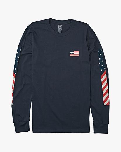 4 Americana Long Sleeve T-Shirt Blue M4052BAM Billabong