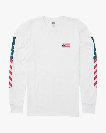 4 Americana Long Sleeve T-Shirt White M4052BAM Billabong