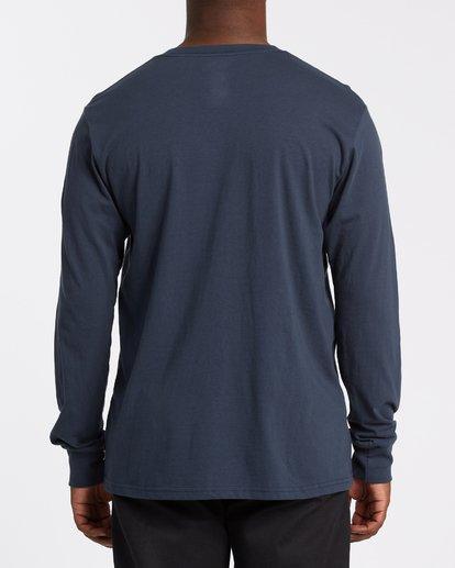 3 Americana Long Sleeve T-Shirt Blue M4052BAM Billabong