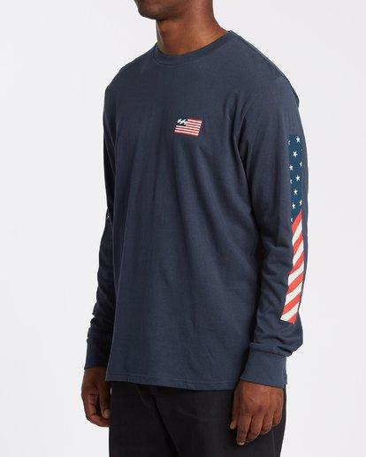 1 Americana Long Sleeve T-Shirt Blue M4052BAM Billabong