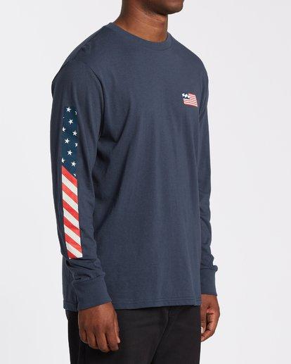 2 Americana Long Sleeve T-Shirt Blue M4052BAM Billabong
