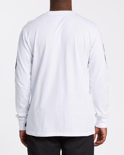 3 Americana Long Sleeve T-Shirt White M4052BAM Billabong