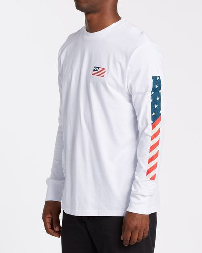 1 Americana Long Sleeve T-Shirt White M4052BAM Billabong