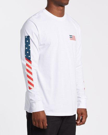 2 Americana Long Sleeve T-Shirt White M4052BAM Billabong