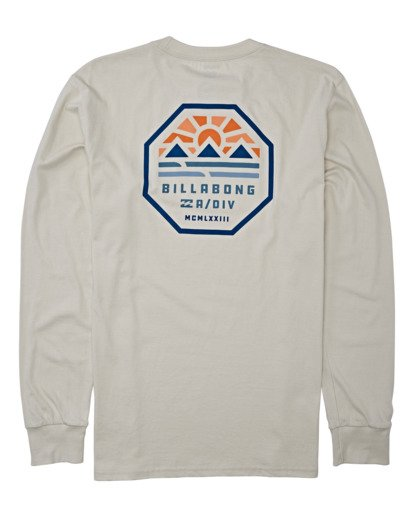 4 Polygon Long Sleeve T-Shirt Brown M4052BPO Billabong
