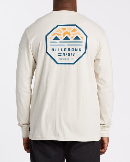 2 Polygon Long Sleeve T-Shirt Brown M4052BPO Billabong