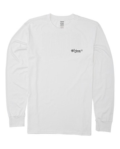 3 Tag Long Sleeve T-Shirt White M4052BTA Billabong