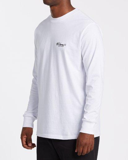 1 Tag Long Sleeve T-Shirt White M4052BTA Billabong