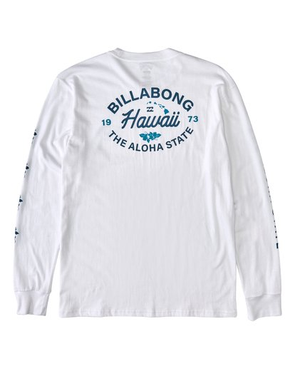 1 Aloha Long Sleeve T-Shirt White M4053BAO Billabong