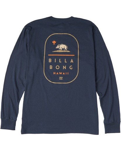 1 Hawaii Tour Long Sleeve T-Shirt Blue M4053BHR Billabong