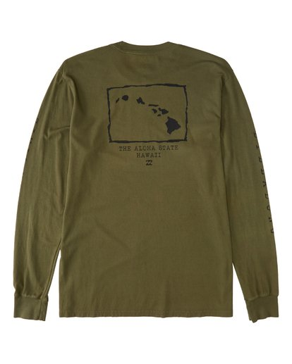 1 Islands Long Sleeve T-Shirt Green M4053BIS Billabong